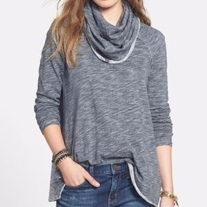 FREE PEOPLE COCOON COWL NECK SWEATER FP BEACH